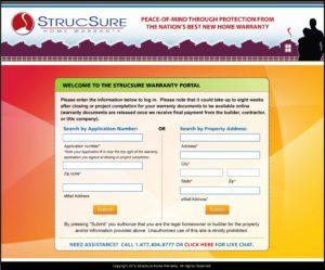 strucsure_WarrantyPortal_LOGIN